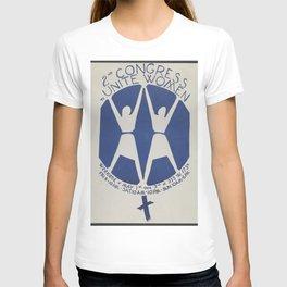 Vintage Poster - 2nd Congress to Unite Women Weekend (1970) T-shirt