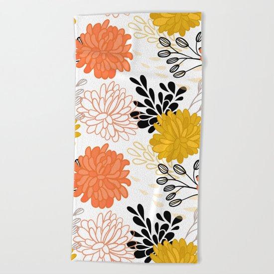 Flowers 111 Beach Towel