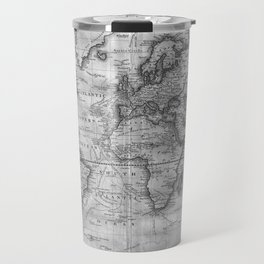 Black and White World Map (1801) Travel Mug