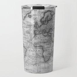 Black and White World Map (1801) Travel Mug