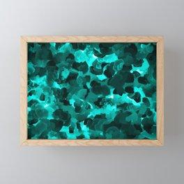 Clear Blue Fluidity Framed Mini Art Print