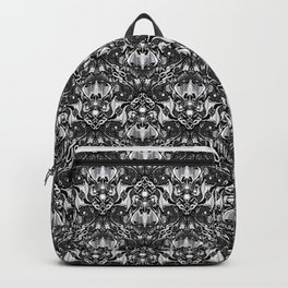 Bats And Beasts - Black and White Backpack