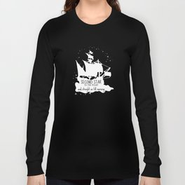 Second star to the right and straight on till morning - Peter Pan Inspired Art Print  Long Sleeve T-shirt