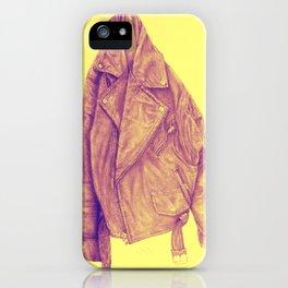 Leather Jacket (Amber) iPhone Case
