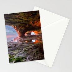 Sea Cave Sunset on Lake Superior Stationery Cards