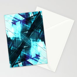 Iceless - Geometric Abstract Art Stationery Cards