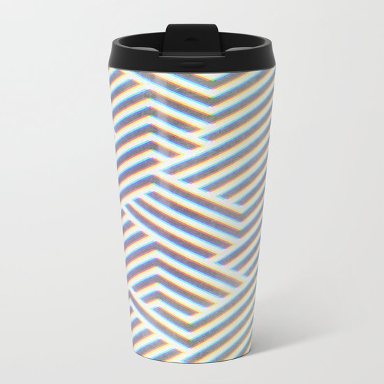 3D Labyrinth Metal Travel Mug