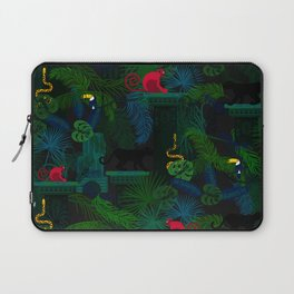 Animals in the jungle on the ruins Laptop Sleeve