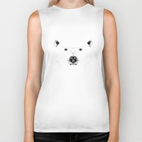 polar bear Biker Tanks featuring Polar Bear by CSMalcolm Illustration