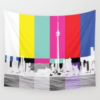 toronto Wall Tapestries featuring Toronto by Shazia Ahmad