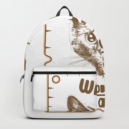 Schrödinger's cat pun Wanted Backpack