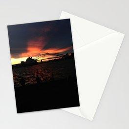 Sunset in Sydney Stationery Cards