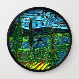 Perception of a Landscape Wall Clock