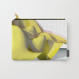 Waved yellow surface Carry-All Pouch