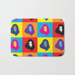 pop art girl Bath Mat