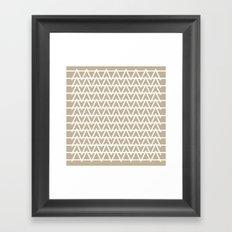 Grey & White pattern Framed Art Print