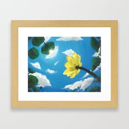 Things Are Looking Up garden lotus pond zen garden art painting Framed Art Print