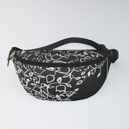 Ornaments on Woman's Back #2 Black and White #decor #society6 #buyart Fanny Pack