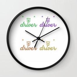 i am a truck driver 6 Wall Clock