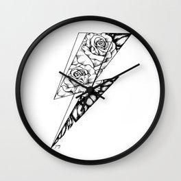 Floral Lightning Wall Clock