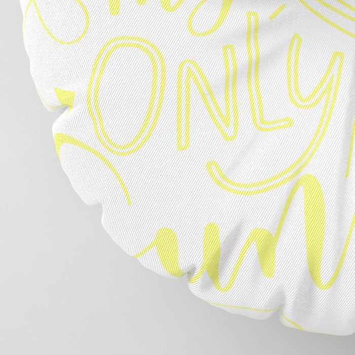 Yellow You are my Sunshine Floor Pillow