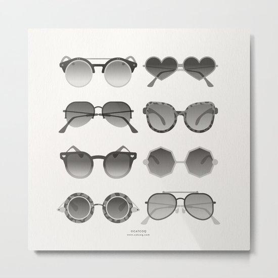 Sunglasses Collection – Black Palette Metal Print