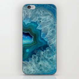 Teal Druzy Agate Quartz iPhone Skin