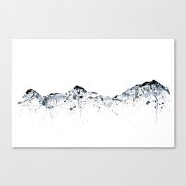 Eiger/Mönch/Jungfrau mountainsplash grey Canvas Print