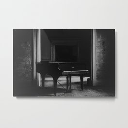 old piano in abandoned mansion Metal Print