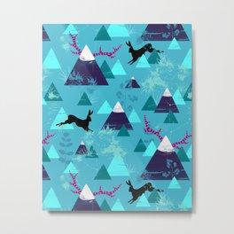 blu mountains Metal Print
