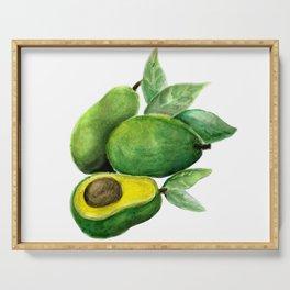 Avocado Green Serving Tray