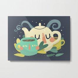 Relax it's Tea Time Metal Print
