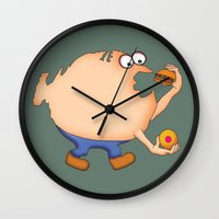 fat Wall Clocks featuring Fat Nation by Steve Bonello