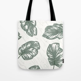 Green Palm Leaves Tote Bag