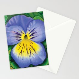 Purple Pansy Power Stationery Cards