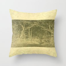 There is unrest in the forest Throw Pillow