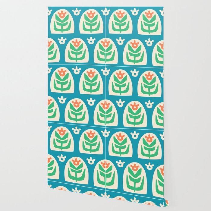Mid Century Modern Sunflower 101 Wallpaper
