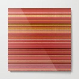 """""""Pink lines burlap"""" Metal Print"""