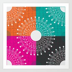 Beauty  multicolour Art Print