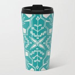 Turquoise Batik Metal Travel Mug