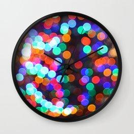 a bokeh christmas Wall Clock