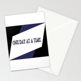 One Day at a Time (blue) Stationery Cards