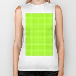 Green Grid White Line Biker Tank