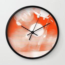 Morning Dew - Orange Wall Clock