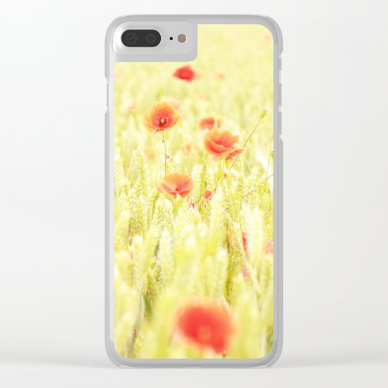 Poppies Clear iPhone Case