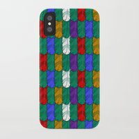 Feathers Pattern iPhone X Slim Case