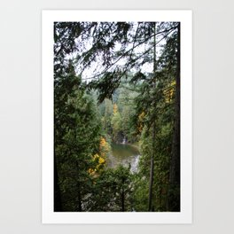 waterfall in the distance Art Print