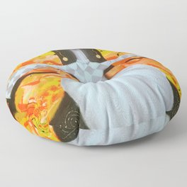 Mademoiselle butterfly Floor Pillow