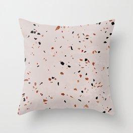 Pink terrazzo - stone Throw Pillow