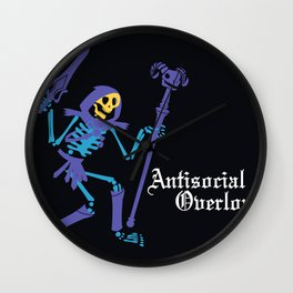 Antisocial Overlord Wall Clock